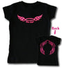 Biker Angel (front and back design) - Toddler T-Shirt