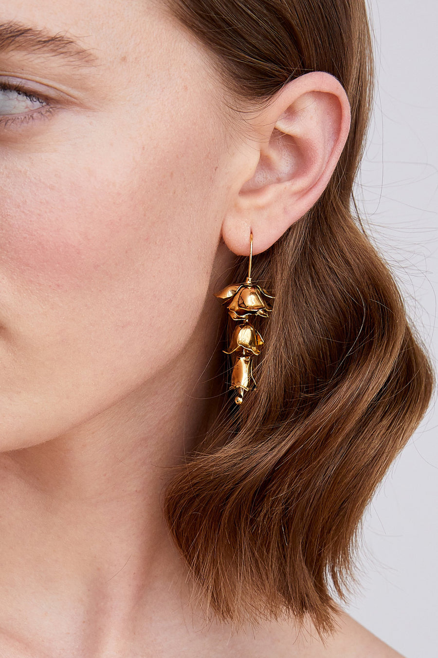 Bluebell Earrings in Gold