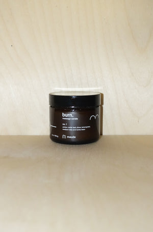 Burn No. 1: Massage Candle - 2oz