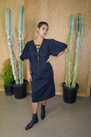 Tarot Dress in Black Crisp