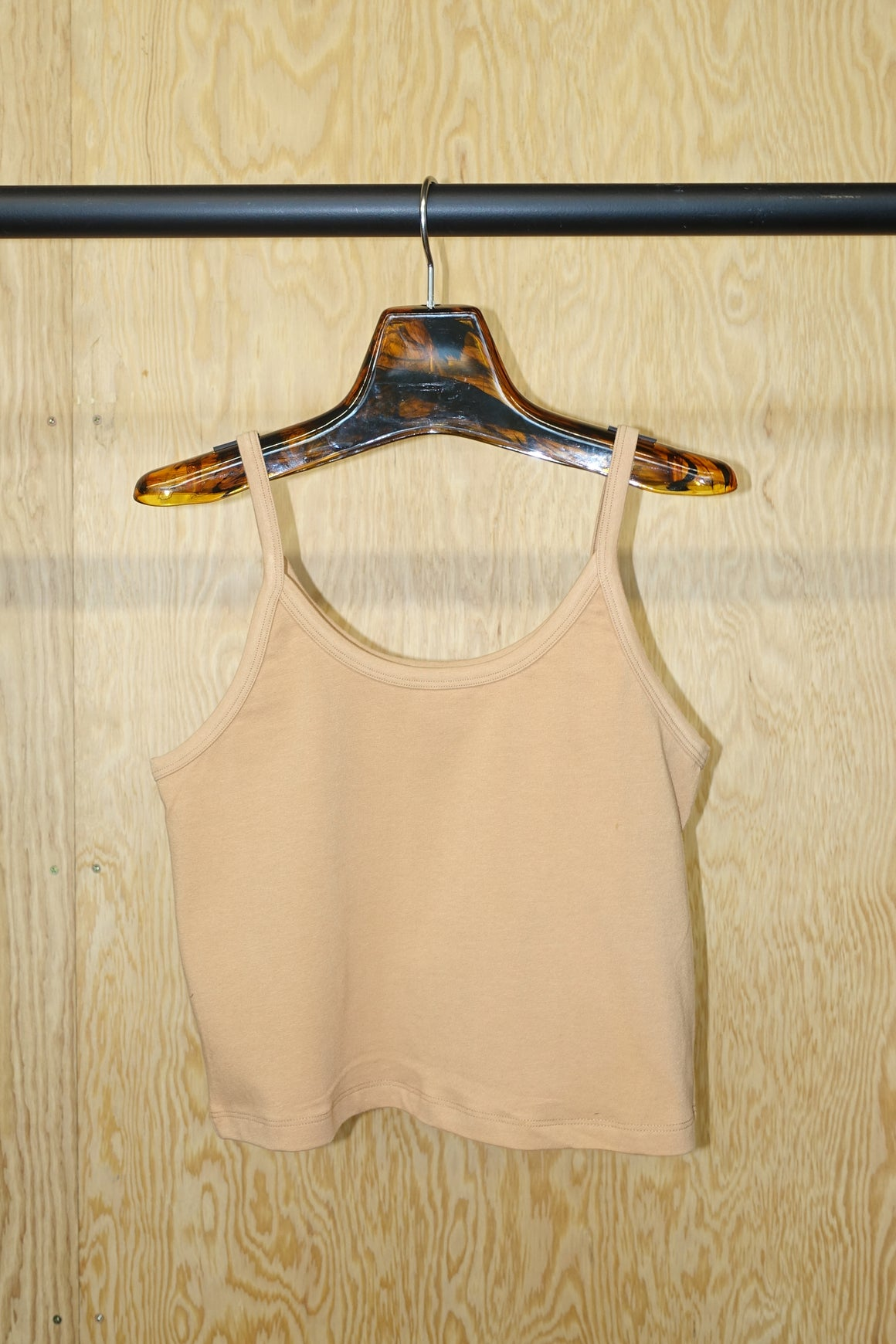 Crop Tank in Camel