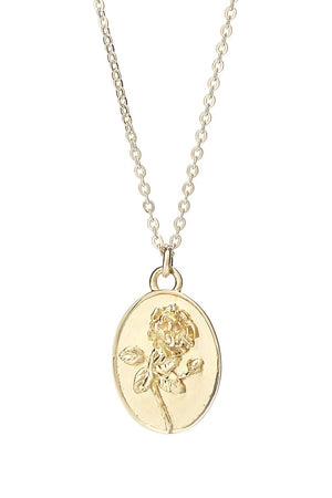 Rose Pendant in Gold