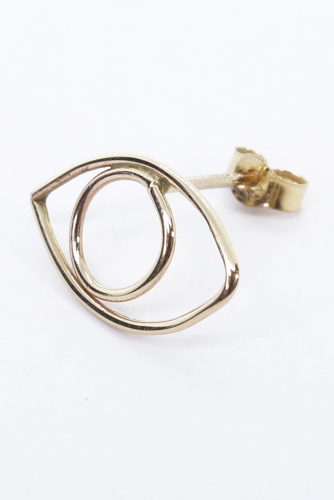 Protective Eye Stud in Recycled 14k Gold