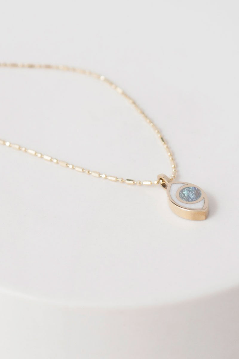Third Eye Necklace in Gold & Moonstone