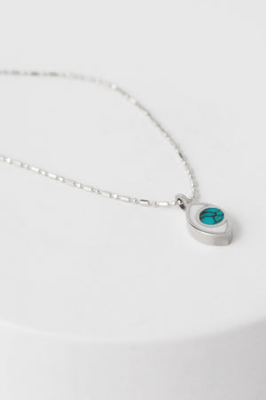 Third Eye Necklace in Silver & Turquoise