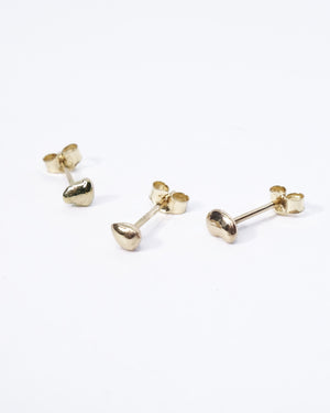 Mini Orb Stud in Recycled 14k Gold