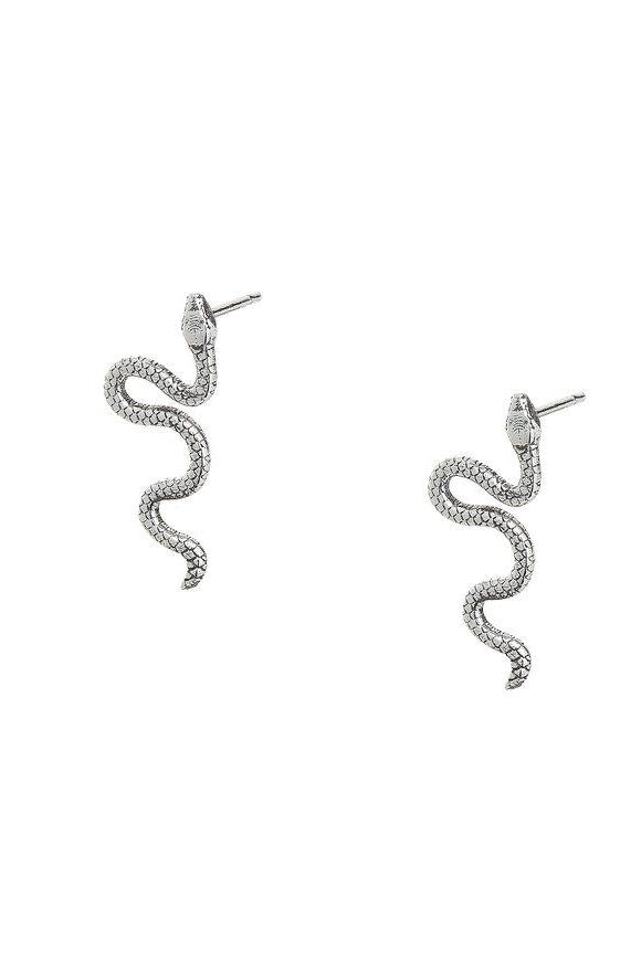 Snake Stud in Sterling Silver