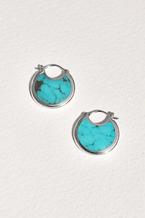Mojave Hoops in Turquoise