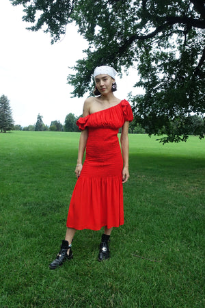 Acacia Dress in Vermillion