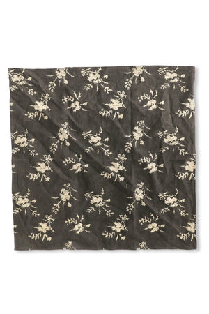 Floral Bandana in Black