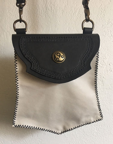 Black & White Renaissance Purse/Crossbody Bag