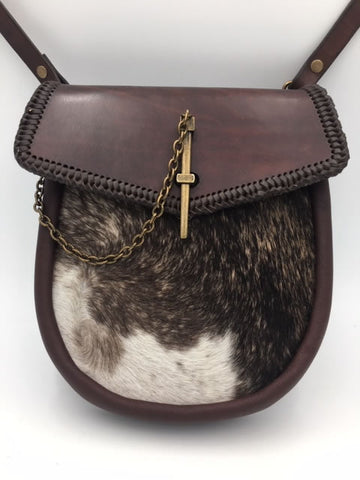 Sporran Hair On Cowhide & Brown Leather