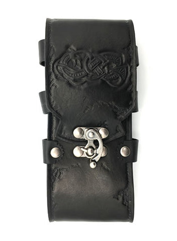 Black Celtic iPhone 8S/Smart Phone Sporran/Belt Case