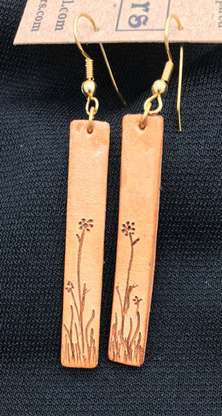 Highland Ramble Leather Earrings 005