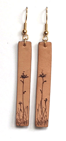 Highland Ramble Leather Earrings 007