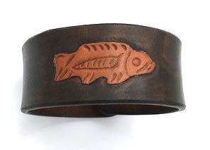 Celtic Viking Fish Leather Wrist Band/Cuff