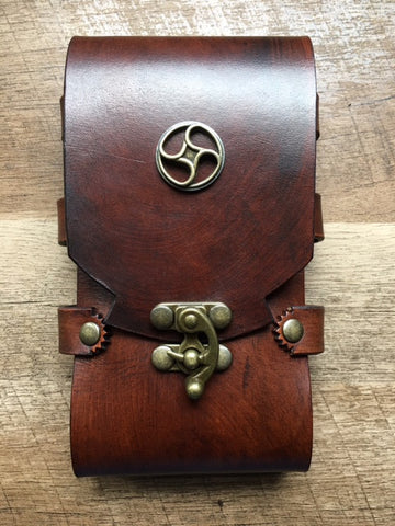 Leather Cell Phone Case, Steampunk