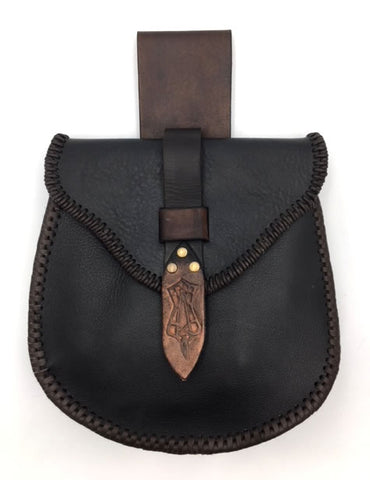 "Sporran ""The Raven"", Viking Belt Pouch"