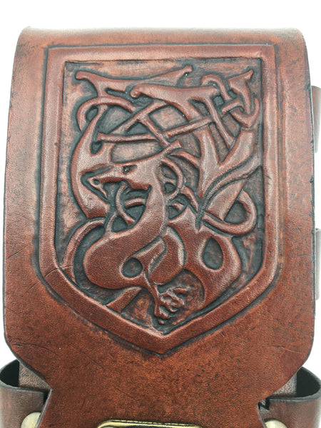 Brown Celtic iPhone 8S/Smart Phone Sporran/Belt Case