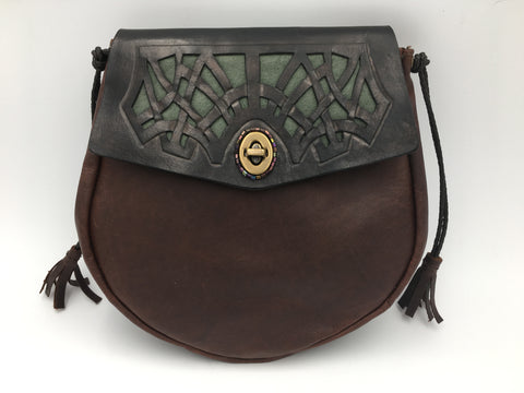 """The Celtic Web"" Cross Body Bag, Brown"