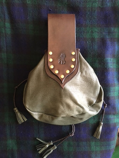 Sporran #28, Brown & Khaki Green Rob Roy Style