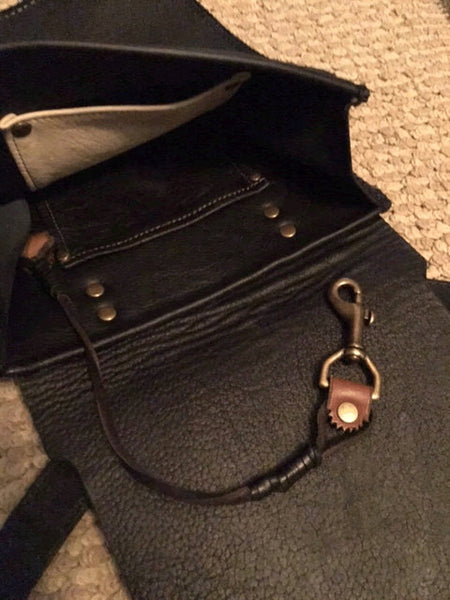 Celtic Leather Crossbody Purse