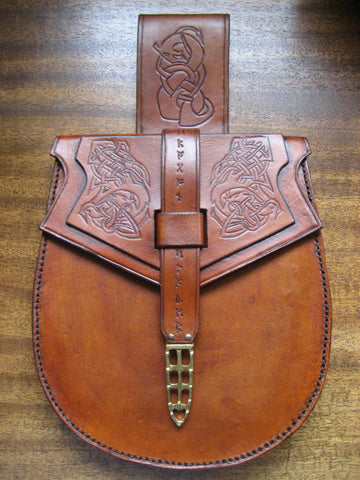 "Sporran, Viking Birka Belt Bag ""Dragon Slayer"""
