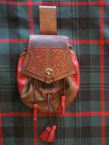 Sporran #22, Rob Roy Style with Cut work Celtic Knot Pattern