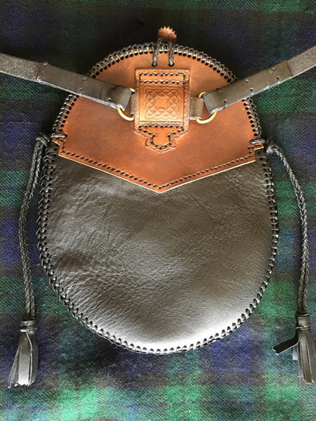 Sporran #15, Engraved Hunting Style