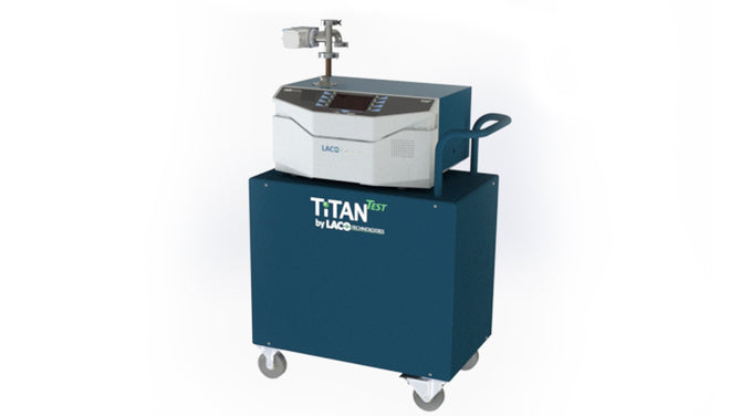 (TD16-CEX11) TitanTest Helium Leak Detector, Cart-Mounted, 16 CFM External Dry, Scroll Pump, External Pump Connection Kit, NW25, Vacuum Operated, with Inlet Filter, 120 VAC Power