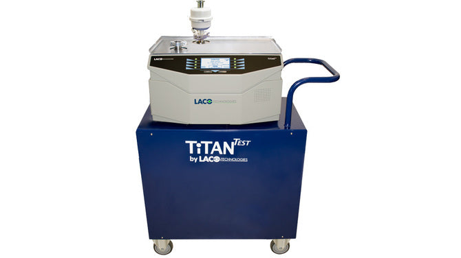 (TD16-CXX11) TitanTest Helium Leak Detector, Cart-Mounted, 16 CFM External Dry Scroll Pump, 120 VAC Power