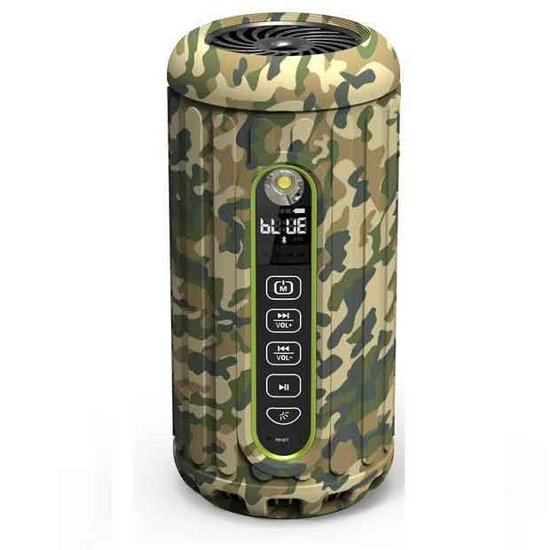 CAMO Military Subwoofer Waterproof Bluetooth Speaker 6600mAh