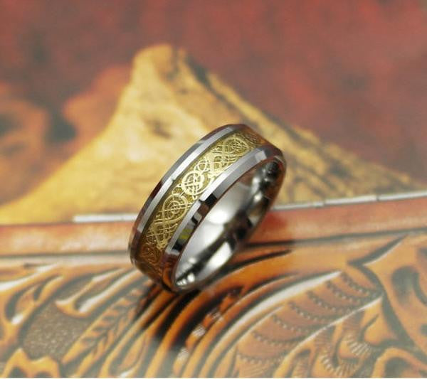 titanium steel Viking Ring