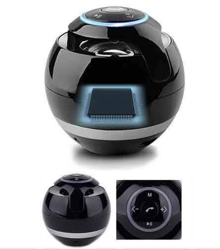 SPHERE Portable Mini Bluetooth Wireless Speaker w/ Mic