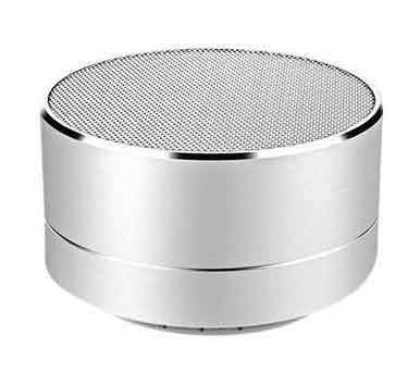 Silver Modern Portable Wireless Bluetooth Mini Speaker