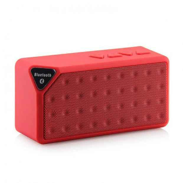 X3 Mini Bluetooth Speaker - Red