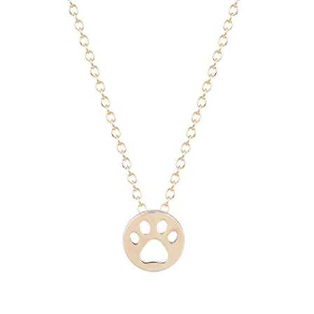 dog paw necklace pendant coin shape
