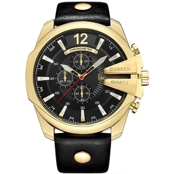 watch masculino movt sport dz leather item relogio quartz male original homme mens face bezel from clock men watches gold stainless big brand esportivo in japan montre vintage steel