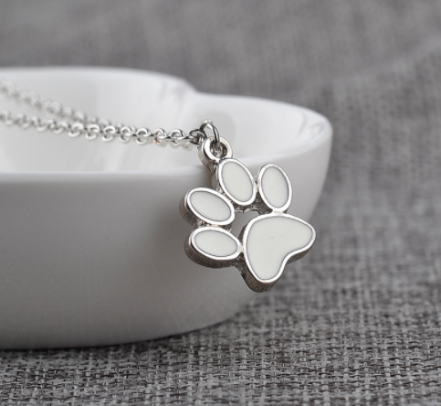 dog paw necklace and pendant