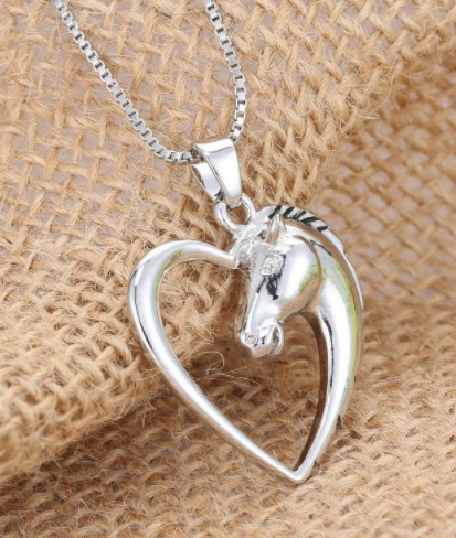 silver hollow horse heart head
