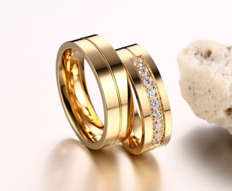 golden ring with crystal set