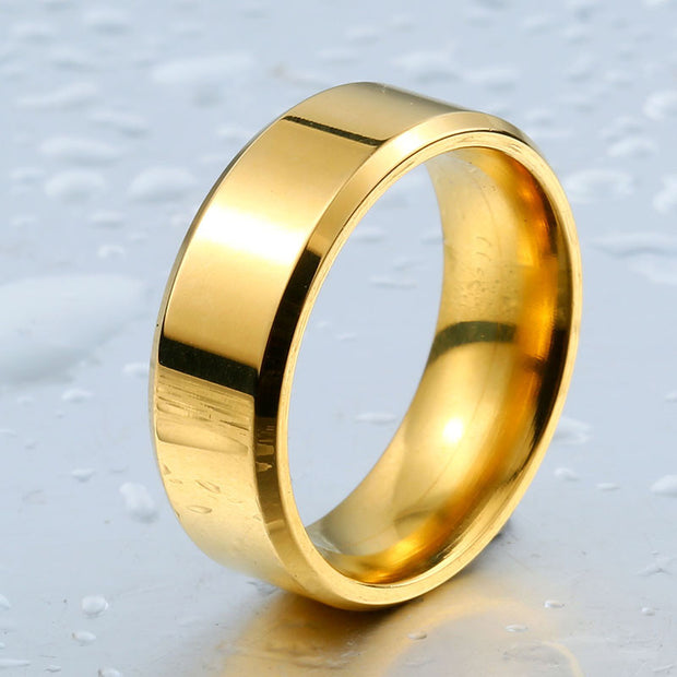 high polished golden ring