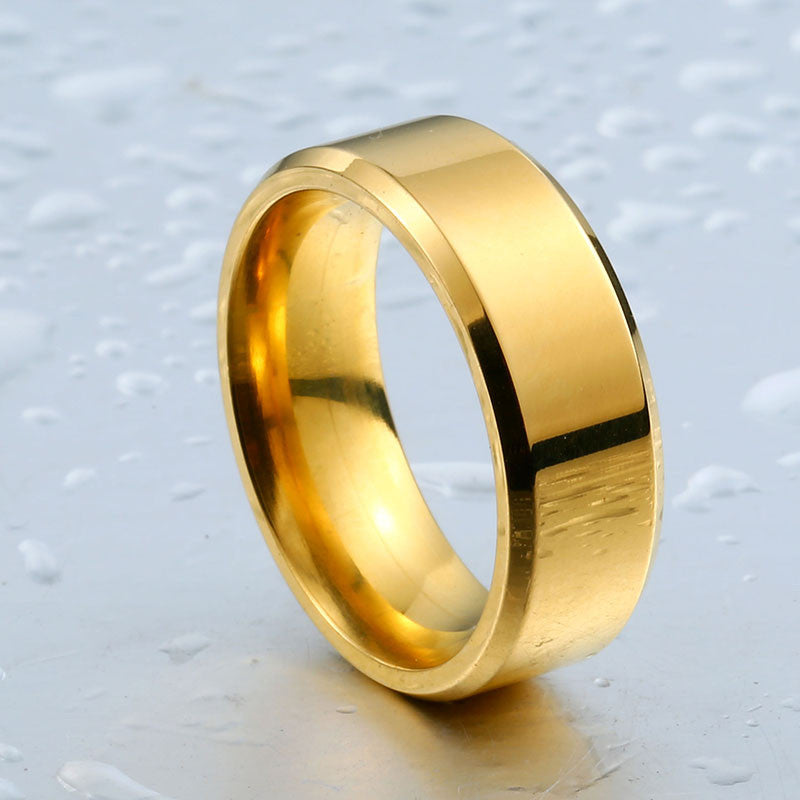 high golden polished ring
