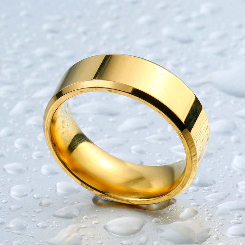 polished golden ring
