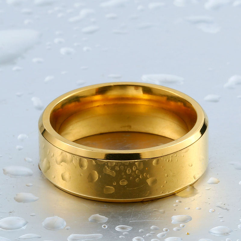 golden high polished ring