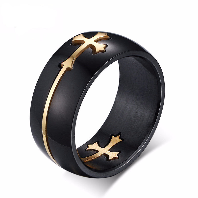 separable cross ring black color