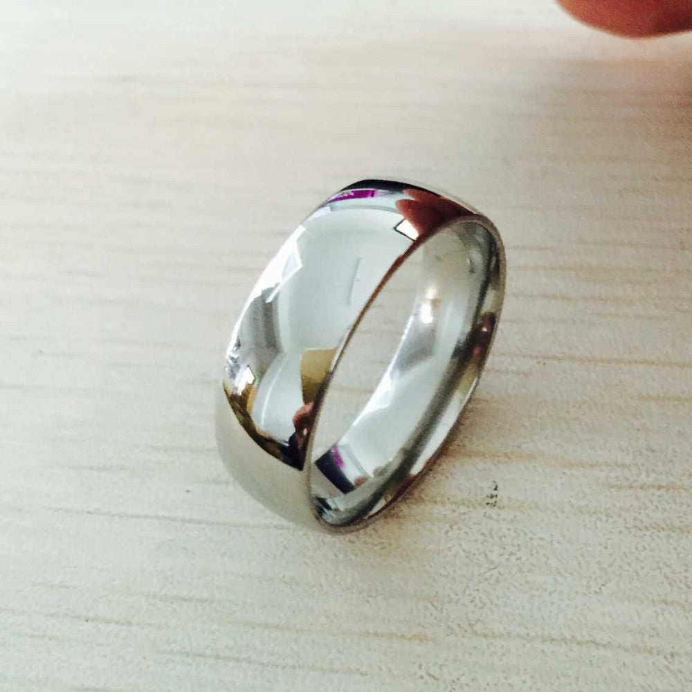 men's ring silver color