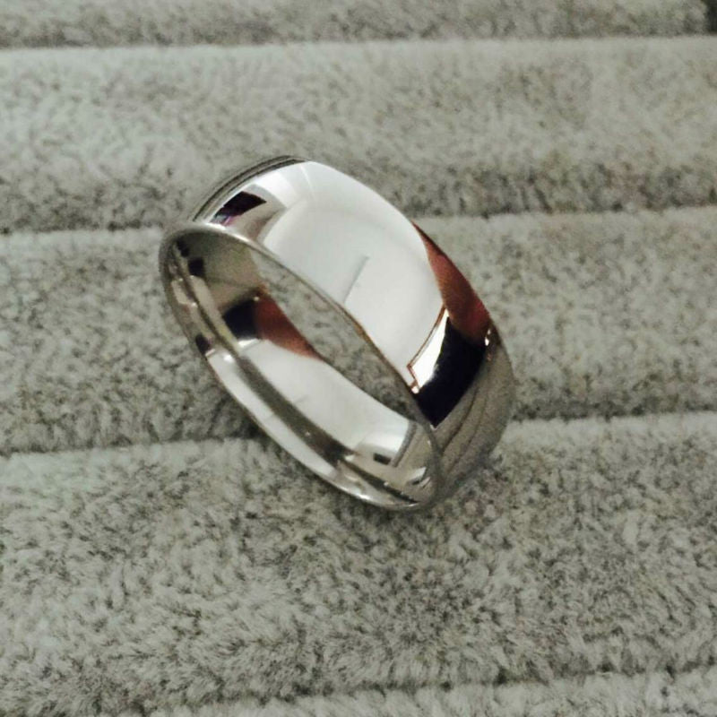 men's silver stainless steel ring