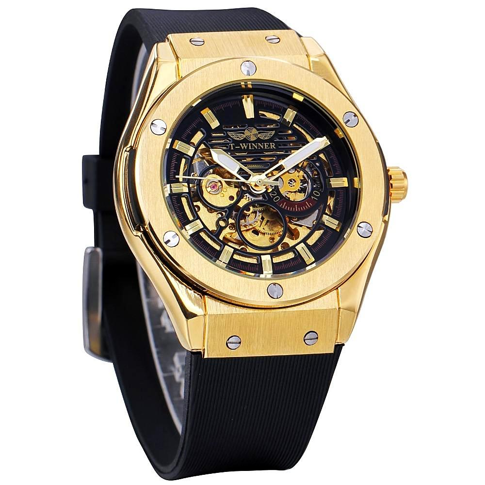 LE MONT - Black and Gold Watch