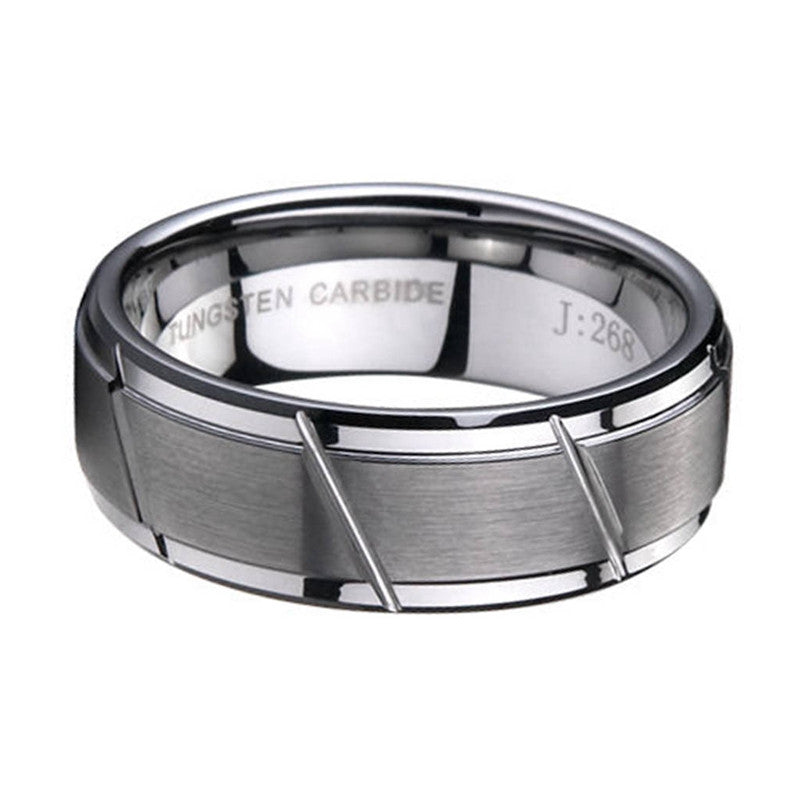 Silver Brushed Matte Classic Ring